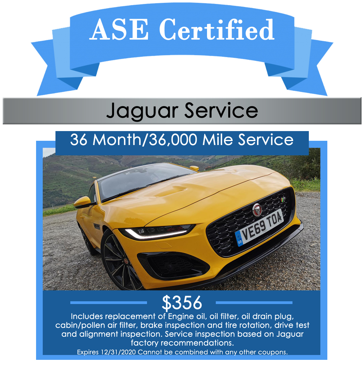 Jaguar 36 Month Service Maintenance