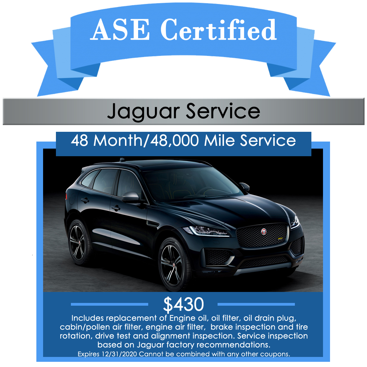 Jaguar 48 Month Service Maintenance
