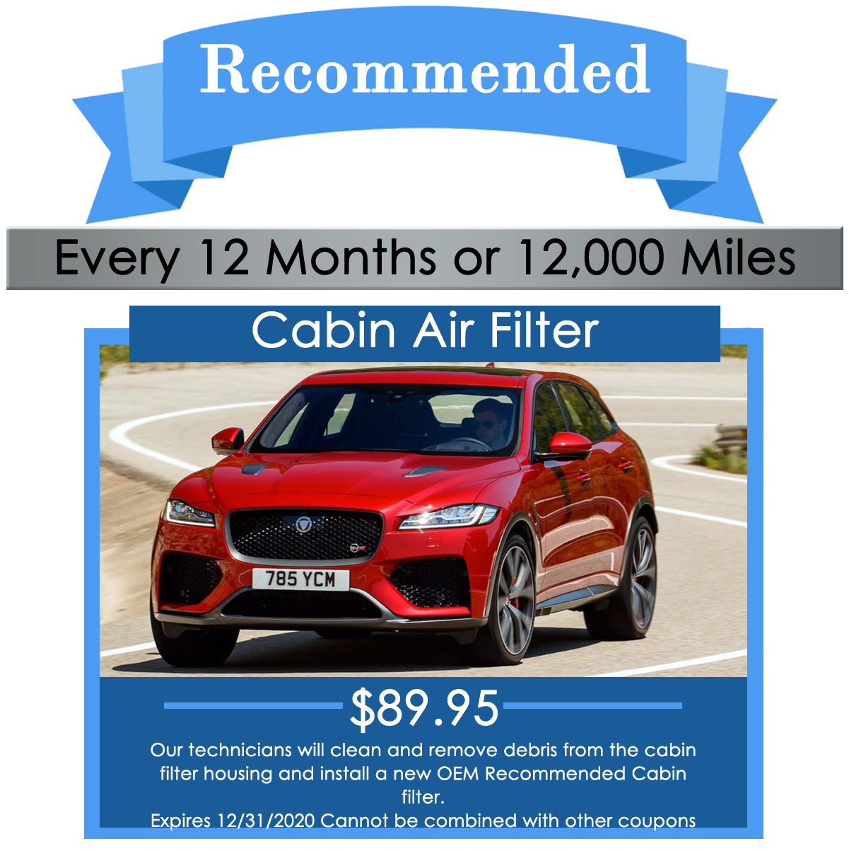 Jaguar Cabin Air Filter